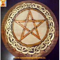 PLATO WICCA PENTAGRAMATON COLOR NOGAL