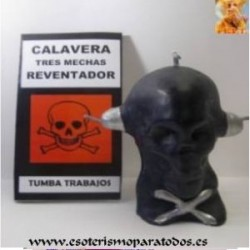 VELA RITUAL CALAVERA NEGRA 3 MECHAS