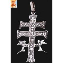 CRUZ DE CARAVACA PLATA 3,5 CM.(Dos Caras)
