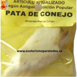 PATA DE CONEJO AMULETO